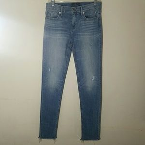 Lucky brand distressed brooke skinny jeans raw he